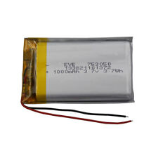 3.7V 1000 mAh Polymer rechargeable Li-ion battery For GPS DVD Tablet PC 753050