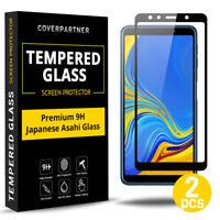 2x 6D Samsung Galaxy A7 2018 Panzerfolie Full Screen Schutzglas Displayschutz