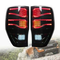 Pair Smoke LED Light Bar Rear Tail Lamp For FORD Ranger T6 T7 PX XL 2013 - 2018