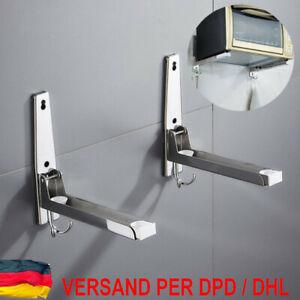Edelstahl Mikrowellenhalterung Mikrowellenhalter Wandhalter Regal für bis 50kg