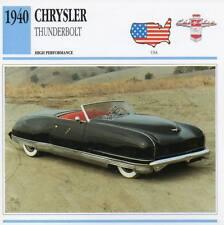 1940 CHRYSLER THUNDERBOLT Classic Car Photo/Info Maxi Card