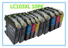 10 PK Replacement Ink Set for LC101 LC103 Brother MFC-J650DW MFC-J870DW MFC-J875