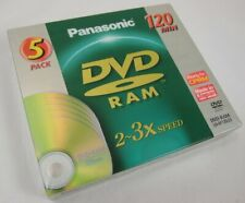 5 Pack Panasonic 120 Min DVD Ram 2-3x Speed LM-AF120E5 Made in Japan