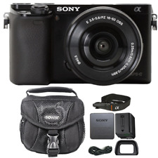 Sony Alpha A6000 Mirrorless 24.3MP Digital Camera Black w/ 16-50mm Lens and Case