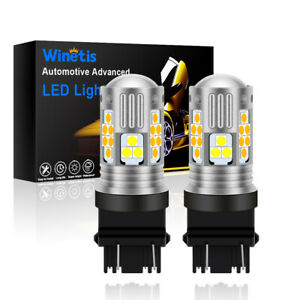 WINETIS 3157 3057 LED Switchback Dual Color White Yellow amber Turn Signal Light