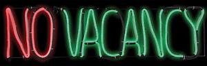 No Vacancy Neon Sign Flickering Animated Prop Light Glow Halloween Decor Gemmy