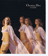 PUBLICITE ADVERTISING 064 1976 CHRISTIAN DIOR soutien gorge lingerie