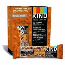2x 12 KIND Bars, Caramel Almond Pumpkin Spice,1.4oz  (total 24) B/B 8/2019