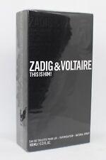 Zadig & Voltaire This is Him! 100ml Eau de Toilette NEU & OVP 100 ml EDT
