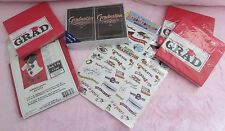 GRADUATION PARTY NAPKINS INVITATIONS HOUSE FLAG 28 X 49 STICKERS PARTY IN A BOX