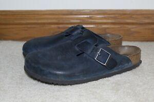 Birkenstock Boston Soft Ftbd Insignia Blue Oiled Leather M8-8.5/L10-10.5 (EU 41)