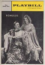 "Gore Vidal  ""Romulus""  Playbill 1962  Cyril Ritchard & Cathleen Nesbitt"