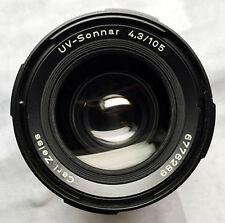 ZEISS Hasselblad Sonnar UV f/4.3 105 mm CF IR PhaseOne UV ACHROMATIC lens