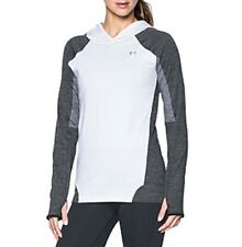 Under Armour Womens UA ColdGear Armour Pullover Hoodie Small White / Silver H2