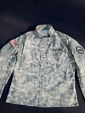 US ARMY Uniform ACU Combat Field Jacket/ Hemd Large Regular Fast Neuwertig !