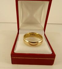 Womens Mens Solid 9ct Yellow Gold WEDDING BAND RING Large Size X Hm 8gr 6mm