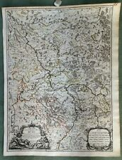 GERMANY LOWER RHINE 1686 GIACOMO ROSSI LARGE ANTIQUE ENGRAVED MAP 17TH CENTURY