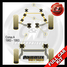 Opel Corsa A (83-93) Powerflex Black Complete Bush Kit
