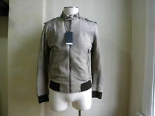SIMON SPURR COOL RUNWAY WASH BEIGE SOFT RICH LEATHER SERGEANT JACKET S L ITALY
