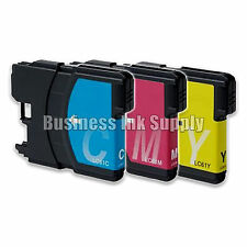 3 Color LC61 Ink Cartridges for Brother DCP-365CN DCP-385CW DCP-6690CN DCP-J125