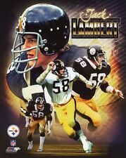 Pittsburgh Steelers JACK LAMBERT Glossy 8x10 Photo Collage Football Print Poster