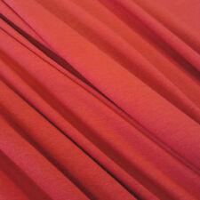Stoff Meterware Baumwolle Jersey rot Tricot T-Shirt weich Kleiderstoff dehnbar