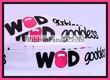 """3 yds 7/8"""" WOD Goddess Grosgrain Ribbon  Crossfit Kettlebell Athletic  Fitness"""