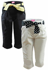 Mädchen Hose Chino Stoffhose 74 80 86 92 Baby Jeans Turn-Up Chinohose Baumwolle