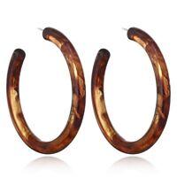 Fashion Women Earrings Tortoise Shell Earrings Resin Hoop Earrings Acrylic