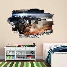 Francotirador Soldado Ejército Militar Guerra 3D Pared Adhesivo Mural Calcomanía Cuarto de Niños Chicos CP66