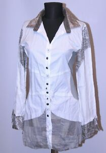 Elisa Cavaletti womens cotton casual tunic shirt Size L
