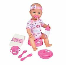 Simba 105039005 New Born Baby Doll Toy & Accessories | Drink and wet functions |