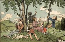 Schroedter. - Ins Kinderland. Liebe alte Kinderreime. Scholz, Mainz, 1927