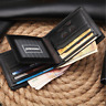 Men Business Genuine Leather Bifold Wallet ID Card Holder Money Organizer Clip