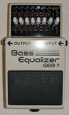 Boss GEB-7 Equalizer (Equaliser) Effect Pedal for bass guitar