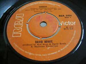 "DAVID BOWIE SORROW / AMSTERDAM 1973 HARD TO FIND IRELAND IRISH 7"" SINGLE"