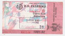 54251 Biglietto stadio - Palermo Lecce - 1991/1992
