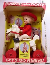 Joanie On Her Pony Plastic Doll Set Boxed With Ride On Pony 1977 Lovee Doll