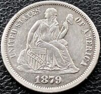 1879 Seated Liberty Dime 10c - Business Strike - High Grade UNC Details #15163