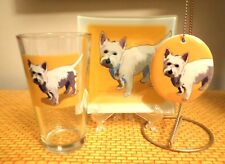 Westie Combo Plate/Glass/Ornament