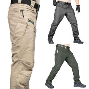 Men Fashion Military Tactical Pants Outdoor Fishing Hiking Combat Cargo Trousers