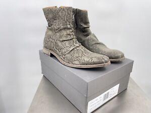 John Varvatos Morrison Sharpei Steel Gray Boot Size 11 NWT Handmade In Italy (F2