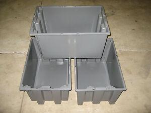 AKRO-MILS 35240GREY Polyethylene Stack/Nest Tote ( Pack of 3 )