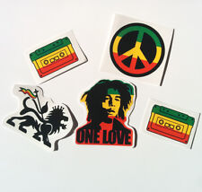 Rasta Sticker Set Vinyl Decal Pack Bob Marley Lion Judah Jah Ethiopia 420 Car VW