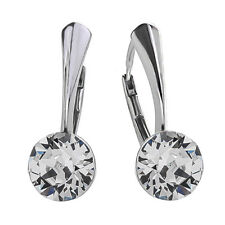 925 Sterling Silver Leverback Earrings Xirius Clear Crystals from Swarovski®