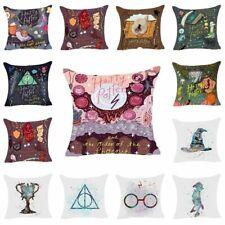 Harry Potter Cotton Linen Pillow Cover Sofa Car Cushion Throw Pillow Case Decor