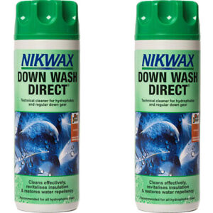 Nikwax Down Wash Direct Cleaner Down Filled Waterproofer Clothing Jackets Bags