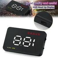 1 PC A1000 Digital HUD Head Up Display OBD2 KMH / MPH Speed Warning Alarm System