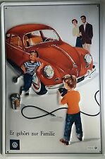 VW Volkswagen Käfer - Blechschild 20x30cm Reklame Werbung Kind Beetle Auto