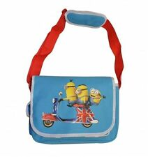 """Minions Messenger sac d'école """"British Minion Mobylette"""""""